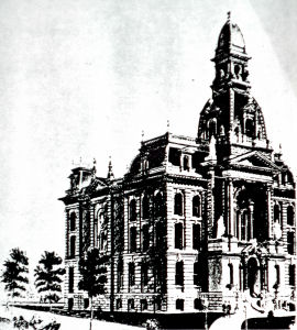Detroit Public Library, Original Plan, Notice curved pyramidal dome not incorporated in final structure